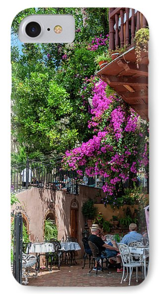Relaxing Under The Colorful Bougainvillea In Trinidad IPhone Case by Daniela Constantinescu
