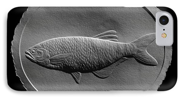 Relief Drawing Of A Freshwater Fish IPhone Case