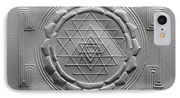 Relief Shree Yantra IPhone Case by Suhas Tavkar
