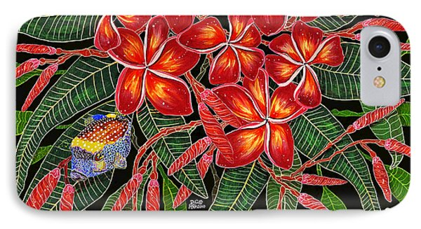 Tropical Fish Plumerias IPhone Case by Debbie Chamberlin