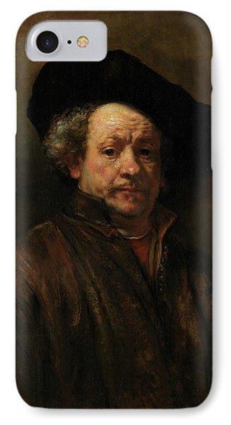 IPhone Case featuring the painting Rembrandt Self Portrait by Rembrandt van Rijn