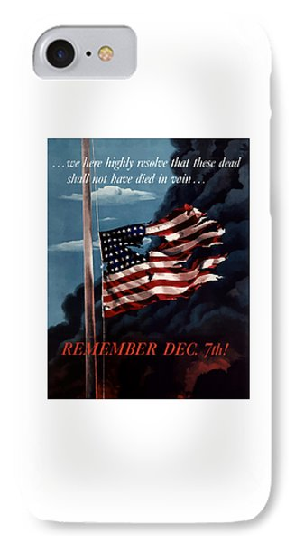 Remember December Seventh Phone Case by War Is Hell Store