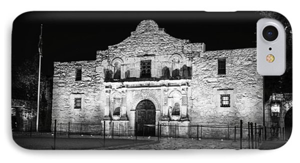 Remembering The Alamo - Black And White IPhone Case by Stephen Stookey
