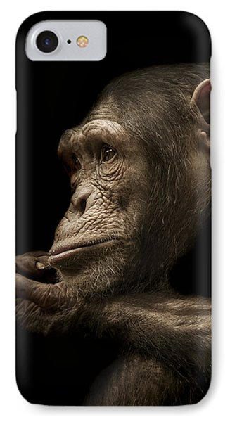 Chimpanzee iPhone 7 Case - Reminisce by Paul Neville