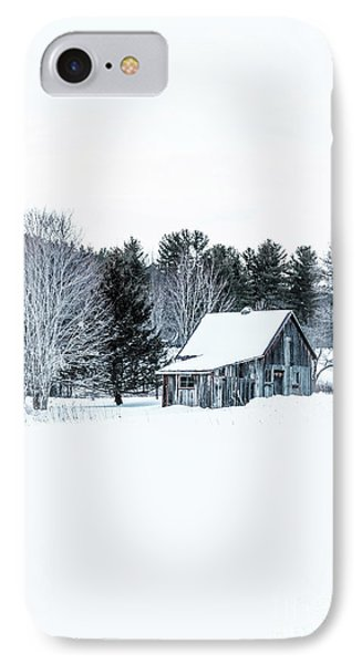 Remote Cabin In Winter IPhone Case by Edward Fielding
