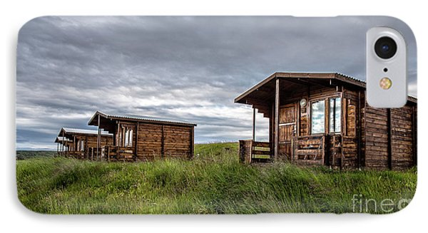 IPhone Case featuring the photograph Remote Cabins Myvatn Iceland by Edward Fielding
