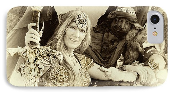 IPhone Case featuring the photograph Renaissance Festival Barbarians by Bob Christopher