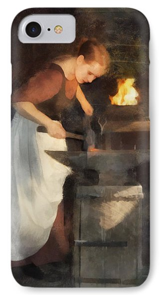 Renaissance Lady Blacksmith IPhone Case by Francesa Miller
