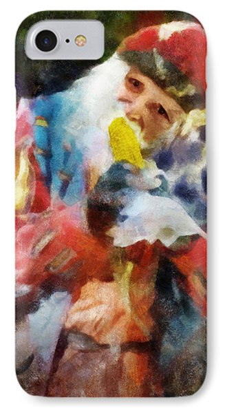 IPhone Case featuring the digital art Renaissance Man With Corn On The Cob by Francesa Miller
