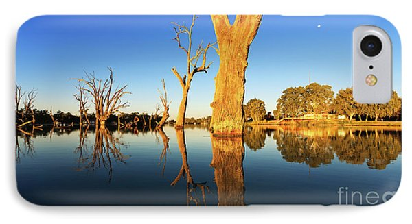 IPhone Case featuring the photograph Renamrk Murray River South Australia by Bill Robinson