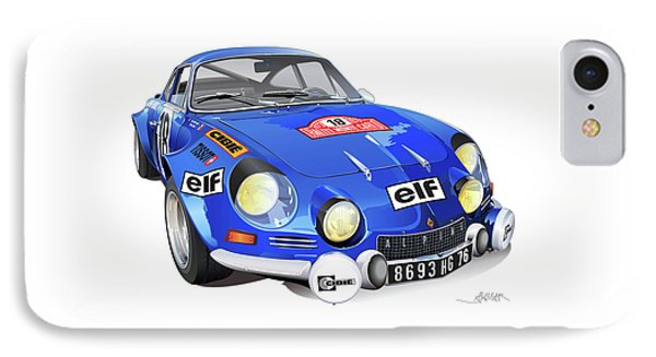 Renault Alpine A110 IPhone Case by Alain Jamar