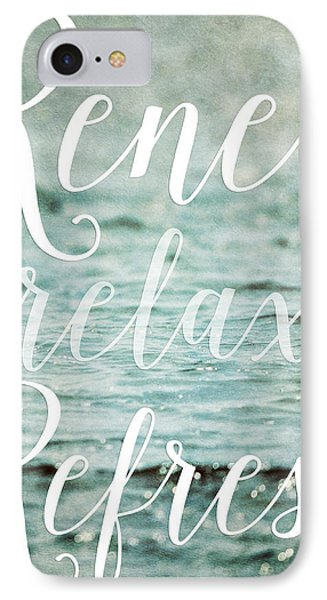 Renew Relax Refresh Bathroom Decor IPhone Case by Lisa Russo