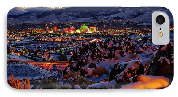 Reno Clearing Snowfall IPhone Case by Scott McGuire