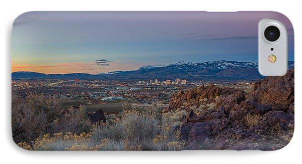Reno Spring Sunrise Ovserlook IPhone Case by Scott McGuire