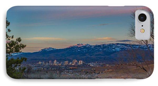Reno Sunrise Natural Frame IPhone Case by Scott McGuire