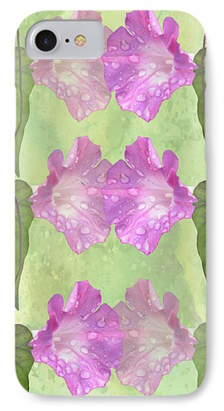 Repeated Morning Glories Phone Case by Rosalie Scanlon
