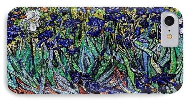 replica of Van Gogh irises IPhone Case by Pemaro