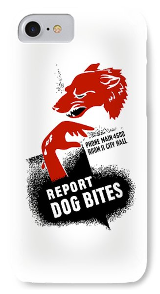 Report Dog Bites - Wpa IPhone Case by War Is Hell Store