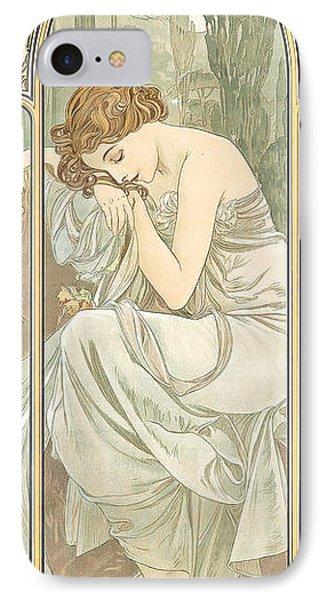 Repos De La Nuit IPhone Case by Alphonse Marie Mucha
