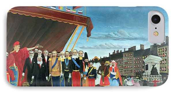 Representatives Of The Forces Greeting The Republic As A Sign Of Peace Phone Case by Henri Rousseau