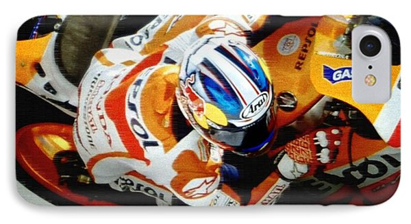 Repsol Honda IPhone Case by Bill Stephens