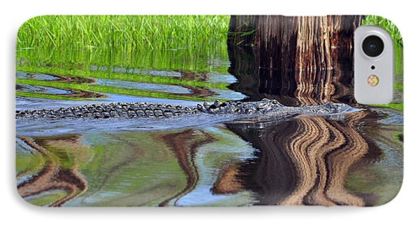 IPhone Case featuring the photograph Reptile Ripples by Al Powell Photography USA