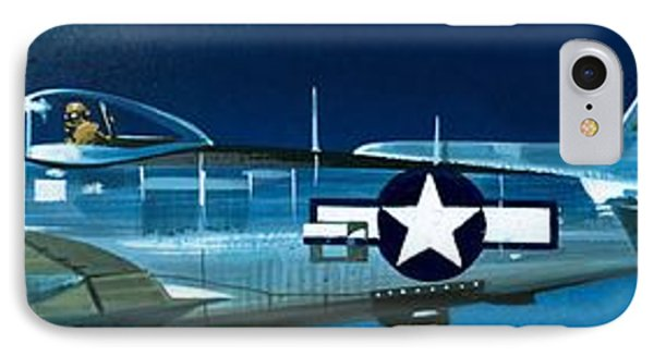 Airplane iPhone 7 Case - Republic P-47n Thunderbolt by Wilf Hardy