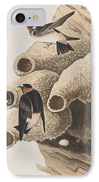 Republican Or Cliff Swallow IPhone Case by John James Audubon