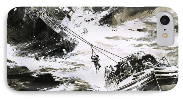 Rescue At Sea IPhone Case by Wilf Hardy