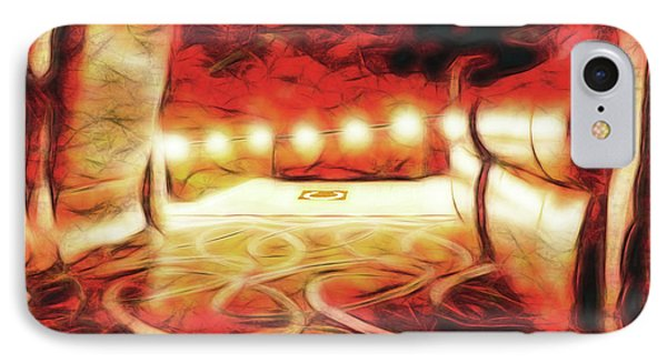 IPhone Case featuring the digital art Reservations - Row C by Wendy J St Christopher