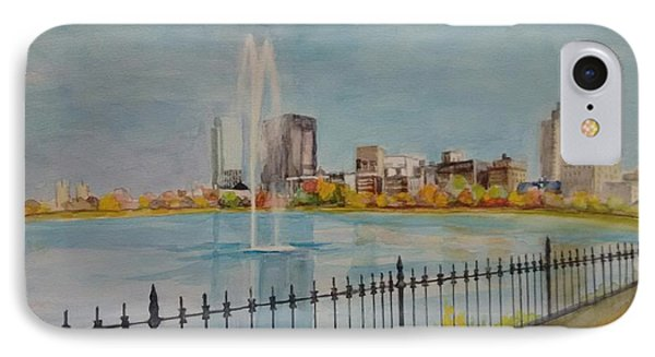 Reservoir In Central Park IPhone Case