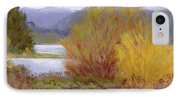 Reservoir Spring IPhone Case by Karen Ilari