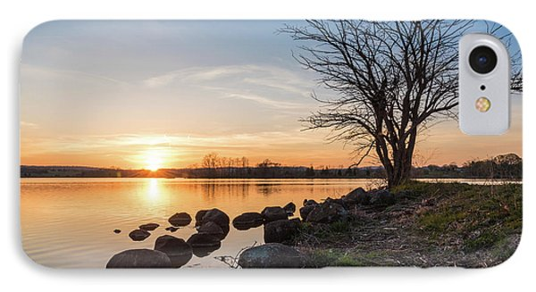 Reservoir Sunset IPhone Case by Kristopher Schoenleber