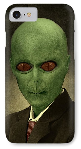 Resident Professor Of Interplanetary Research Area 51 IPhone Case by Movie Poster Prints