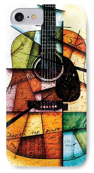 Guitar iPhone 7 Case - Resonancia En Colores by Gary Bodnar