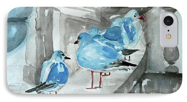 IPhone Case featuring the painting Rest By The Sea by Jasna Dragun
