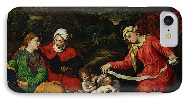 Rest On The Flight Into Egypt IPhone Case by Paris Bordone