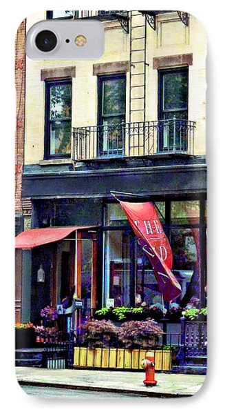 Restaurant In Chelsea Phone Case by Susan Savad