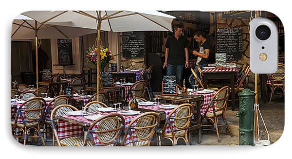 Restaurant On Rue Pairoliere In Nice IPhone Case by Elena Elisseeva