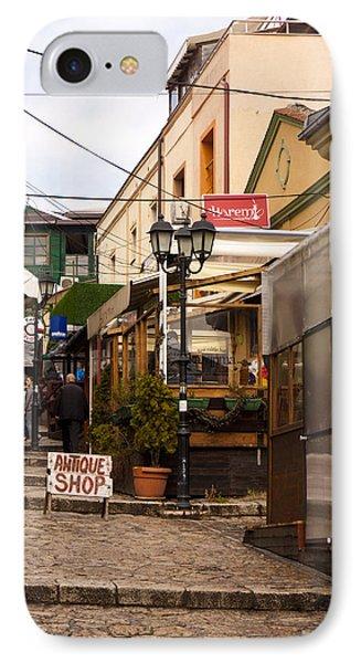 Restaurants In The Bazaar Phone Case by Rae Tucker