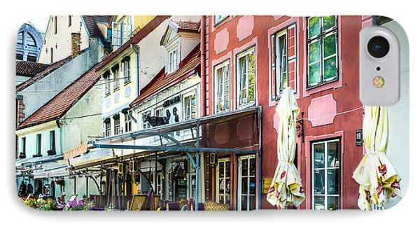 Restaurants In The Old Town Of Riga IPhone Case by RicardMN Photography