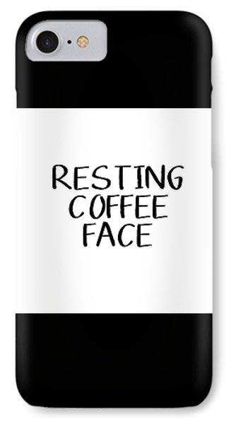 Resting Coffee Face-art By Linda Woods IPhone Case by Linda Woods