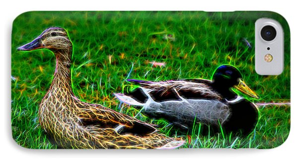 IPhone Case featuring the photograph Resting Ducks by Mariola Bitner