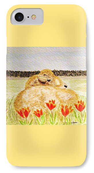Resting In The Tulips Phone Case by Angela Davies