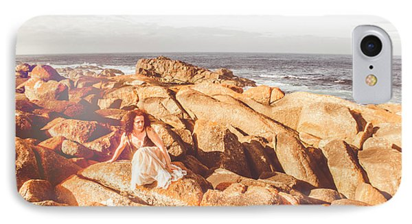 Resting On A Cliff Near The Ocean IPhone Case