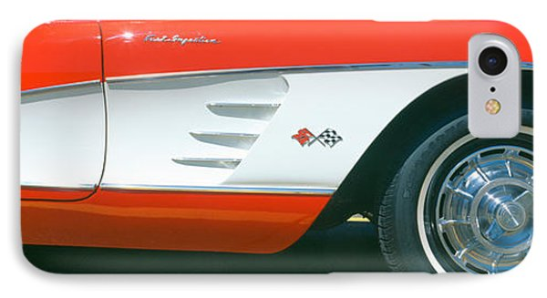 Restored Red 1959 Corvette, Fender IPhone Case by Panoramic Images