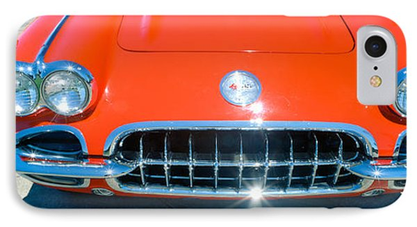 Restored Red 1959 Corvette, Front IPhone Case by Panoramic Images