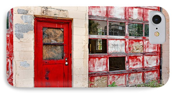 IPhone Case featuring the photograph Retired Garage by Christopher Holmes