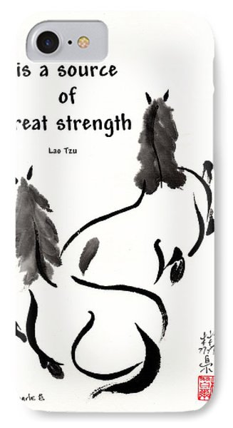 IPhone Case featuring the painting Retired With Lao Tzu Quote IIi by Bill Searle