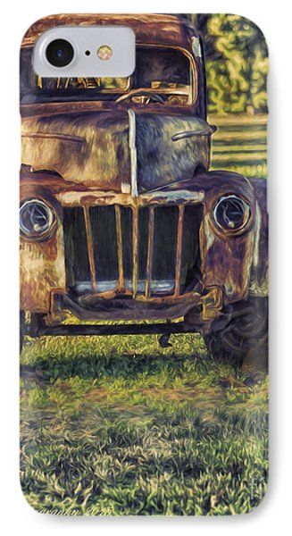 Retired Wrecker IPhone Case by Linda Blair